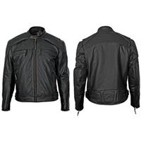 Men's Leather Scooter Jacket by Milwaukee Motorcycle Clothing Company®