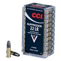 CCI Suppressor, .22LR, HP, 45 Grain, 50 Rounds