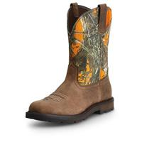 Men's Ariat Groundbreaker Pull-on Boots, Brown MC2 Blaze
