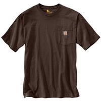 Carhartt Men's Workwear Pocket Short Sleeve Shirt, Dark Brown