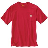Carhartt Men's Workwear Pocket Short Sleeve Shirt, Red