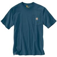 Carhartt Men's Workwear Pocket Short Sleeve Shirt, Stream Blue