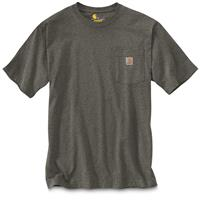Carhartt Men's Workwear Pocket Short Sleeve Shirt, Carbon Heather