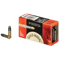 50 rounds Federal Premium® Gold Medal .22LR 40 Grain Lead Match Ammo