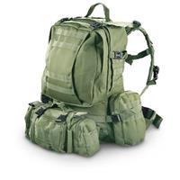 Military Tactical Assault Rucksack, Forest Green • 1,600-cu. in. capacity