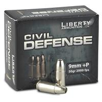 Liberty Civil Defense, 9mm +P, HP, 50 Grain, 20 Rounds