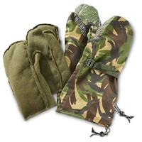 British Military Surplus Waterproof Camo Mitts, 2 Pairs, New