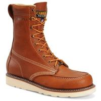 Men's Carolina 8 inch Steel Toe Domestic Moc Toe Wedge Work Boots, Tobacco