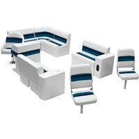 Wise® Deluxe Pontoon Complete Fishing Boat Seating Group, 