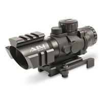 AIM Sports® 4x32mm Tri-Illuminated Scope with 3/4 Circle Reticle