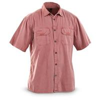 Guide Gear Big Sky Short-sleeved Shirt, Dusty Red
