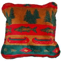 Denali® Home Fish Lodge 18 inch Throw Pillow
