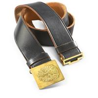 New Spanish Military Surplus Leather Belt with Buckle