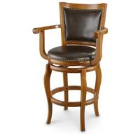 "CASTLECREEK Big Man's 29"" Swivel Barstool with Arms"