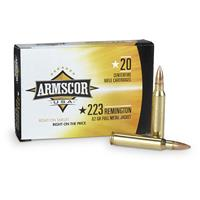 Armscor USA, .223 Remington, 62 Grain FMJ, 20 Rounds