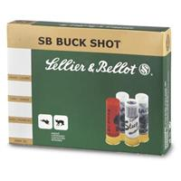"Sellier & Bellot, 2 3/4"", 12 Gauge 1 1/4-oz. #4 Buckshot, 100 Rounds"