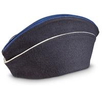 French Military Surplus Police Wool Overseas Caps, 6 Pack, New