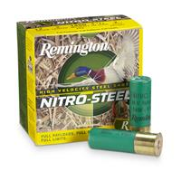 "Remington, Nitro Steel, 12 Gauge, 3"" Shell, 1 1/4 ozs., 25 Rounds"