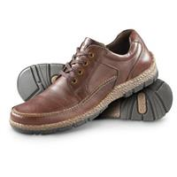 Guide Gear Men's Leather Casual Oxford Moc Toe Shoes, Brown