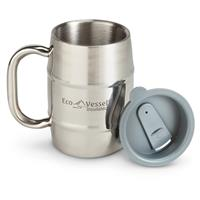 Eco Vessel Double Barrel Insulated Beer / Coffee Mug, 16 oz.