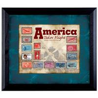 """America Takes Flight"" Stamp Collection Display by American Coin Treasures"