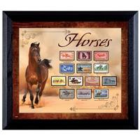 """Horses on Stamps"" Display from American Coin Treasures"
