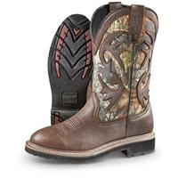 Guide Gear Men's Whitetail Camo Wellington Cowboy Boots, Mossy Oak Break-Up