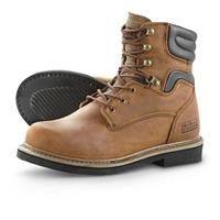 "McRae 8"" Steel Toe Lace-up Boots, Chestnut"
