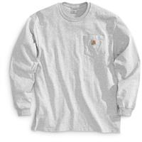 Carhartt Men's Long-sleeved Pocket T-shirt, Ash
