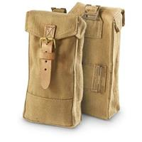 2 New Italian Military Surplus Canvas Mag Pouches