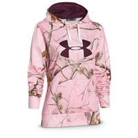 Under Armour Women's Camo Big Logo Hoodie, Realtree AP Pink / Ox Blood