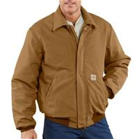 Carhartt Flame-resistant Heavyweight Quilt-lined Duck Bomber Jacket, Carhartt Brown