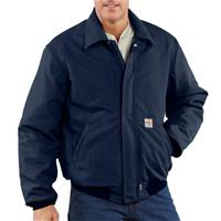 Carhartt Flame-resistant Heavyweight Quilt-lined Duck Bomber Jacket, Dark Navy