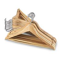 20 Hardwood Clothes Hangers