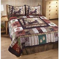 White Tail Lodge Quilt Set, 3 Piece