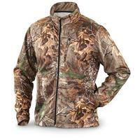 Itasca Camo Polyester Fleece Full-zip Jacket, Realtree Xtra