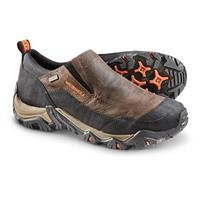 Merrell Polarand Rove Waterproof Moc Toe Slip-on Shoes, Black Slate