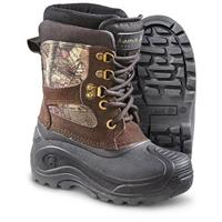 Kids' Kamik 200 gram Thinsulate Insulation Nation Junior Waterproof Winter Boots, Mossy Oak Break-Up Infinity