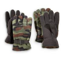 Fleece-lined Shooters Gloves, 2 Pairs