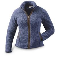 Guide Gear Women's Cabin Fuzzy Jacket, Polyester, Blue Indigo