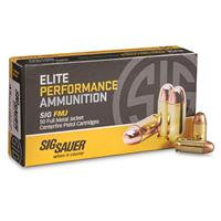 SIG Elite Performance, .45 ACP, FMJ, 230 Grain, 50 Rounds