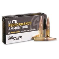 SIG SAUER Elite Performance, .300 AAC Blackout, Open Tip Match, 125 Grain, 20 Rounds