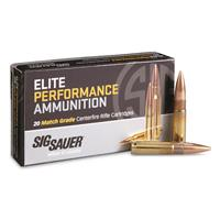 SIG Elite Performance, 300 AAC Blackout, Sierra MatchKing Open Tip, OTM, 220 Grain, 20 Rounds