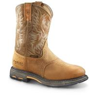 Ariat WorkHog Men's H2O Pull On Work Boots, Aged Bark / Army