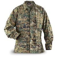 HQ ISSUE Military-style BDU Shirt, Digital Woodland Camo