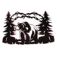 Bear Metal Wall Art