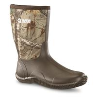 Men's Guide Gear Mid Hunter Waterproof Rubber Boots, Realtree Xtra