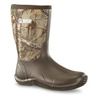 Women's Guide Gear Mid Hunter Waterproof Rubber Hunting Boots, Realtree Xtra