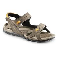 Hi-Tec Men's Laguna Strap Sandals, Dark Taupe / Lt. Taupe / Gold