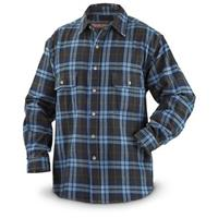 Moose Creek Brawny Men's Long Sleeve Plaid Shirt, Flannel, Blue